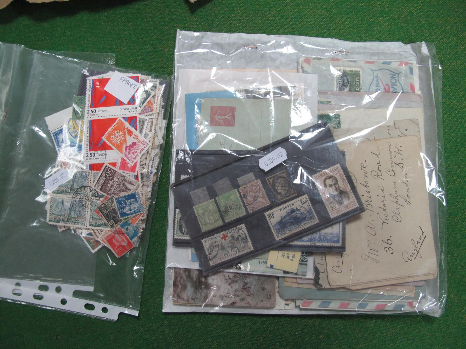 A France Collection of Used Stamps, and a few covers, a few decent, many hundreds.