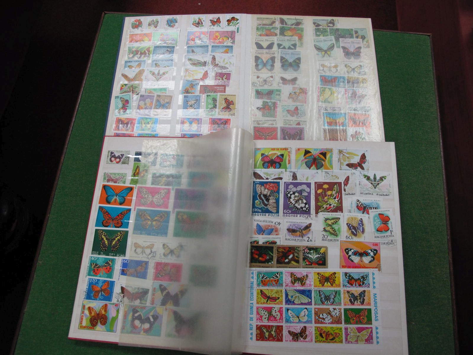 Thematic Collection of Mint and Used Stamps of Butterflies, in two sixteen page stockbooks, includes