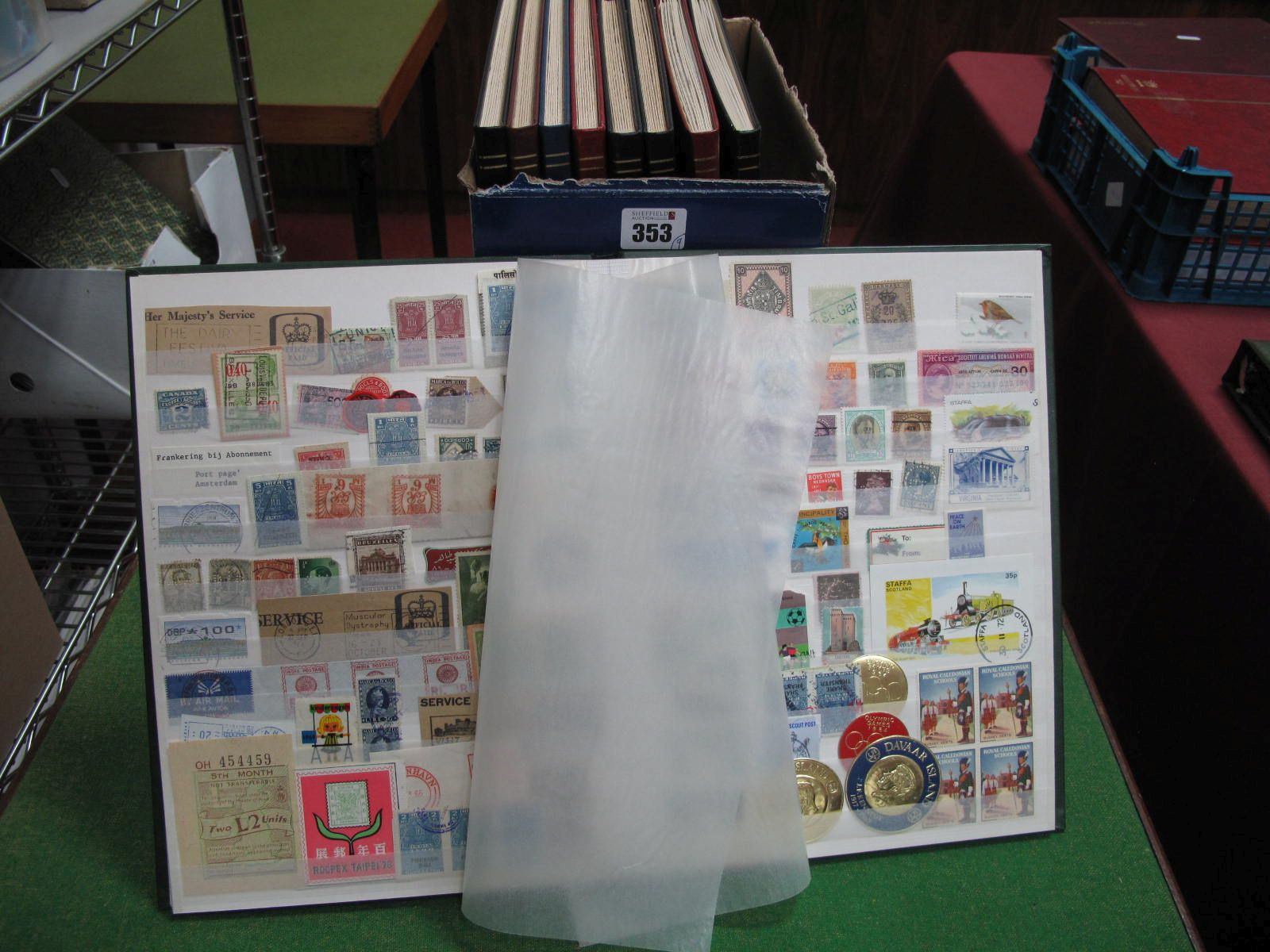 A Carton Containing Nine Stockbooks, with thousands of Cinderella stamps, including Poster, Revenue,
