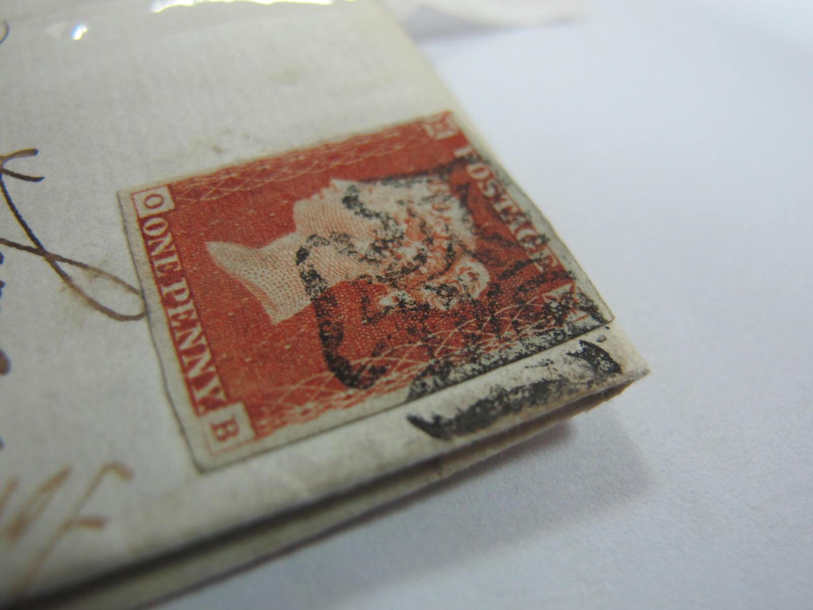 1841 1d Red 4 Margin 0 - 13, Perth MX cover, cat £700. - Image 4 of 4