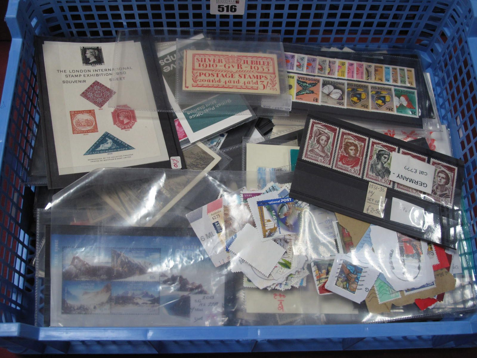 A G.B Commonwealth and World Stamps and Covers, on stock cards, many sets and better singles, good