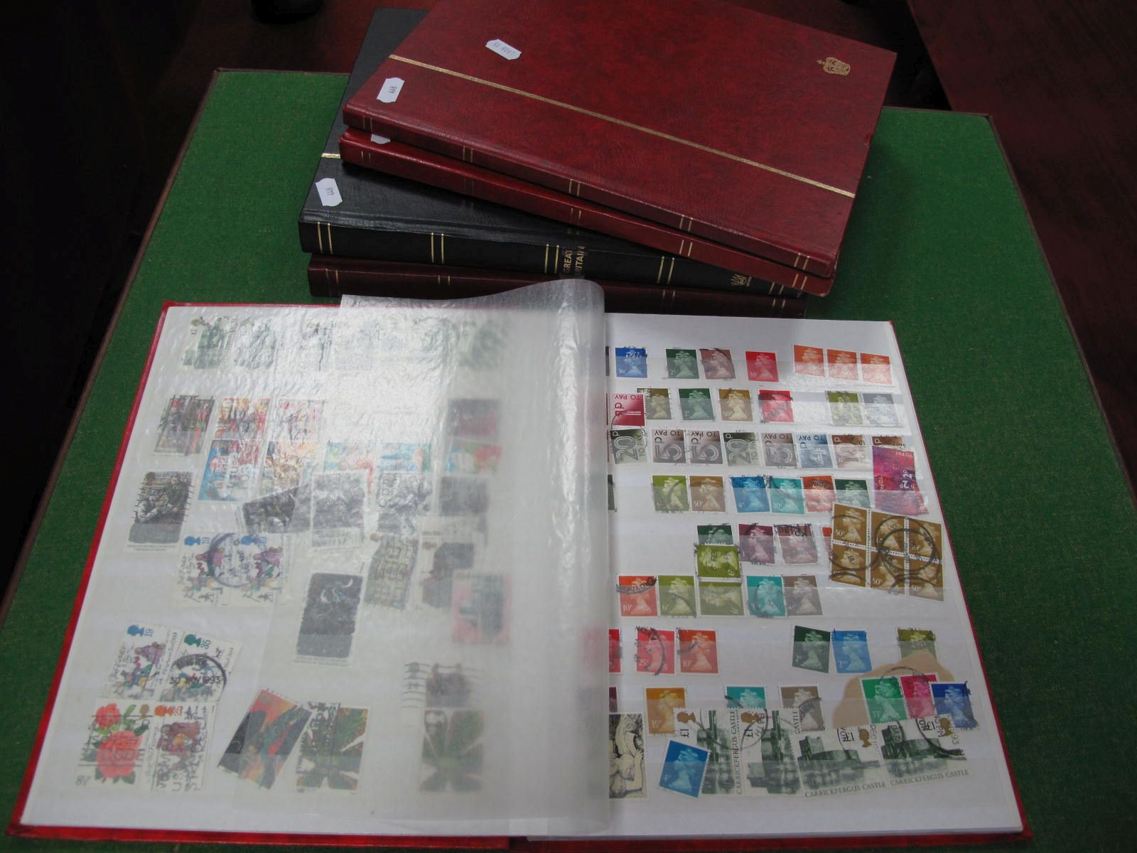 GB Five Stockbook of Mint and Used Stamps, includes Queen Victoria a few 1d Reds, then mainly QEII