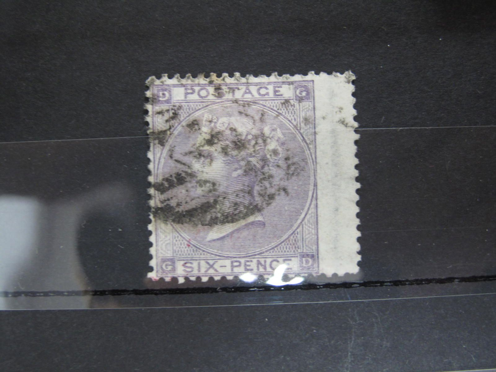 1864 6d Lilac Watermark Reversed,listed by SG but not priced, cat ??