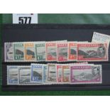 Ascension 1938 Set of Mint Stamps, to 10/-, fresh appearance.