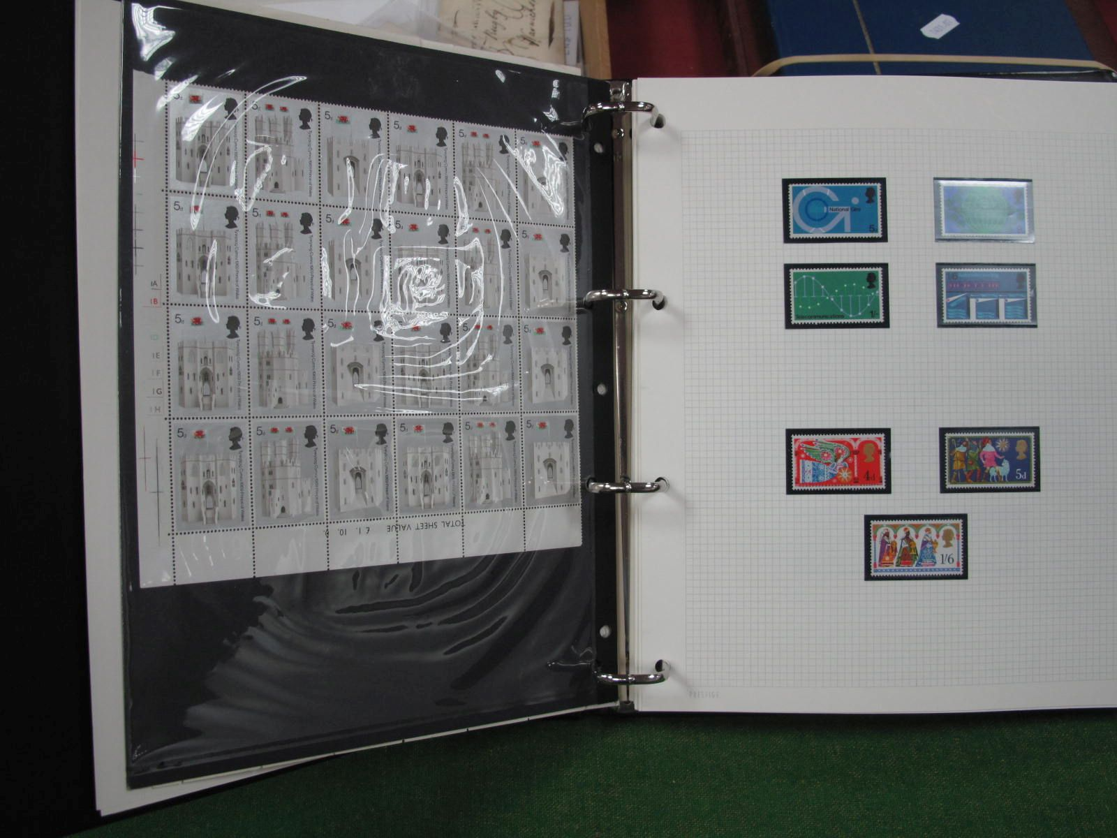 A G.B Collection of Mint Commemorative Stamps, from 1953 Coronation to 1985 Christmas, looks to be