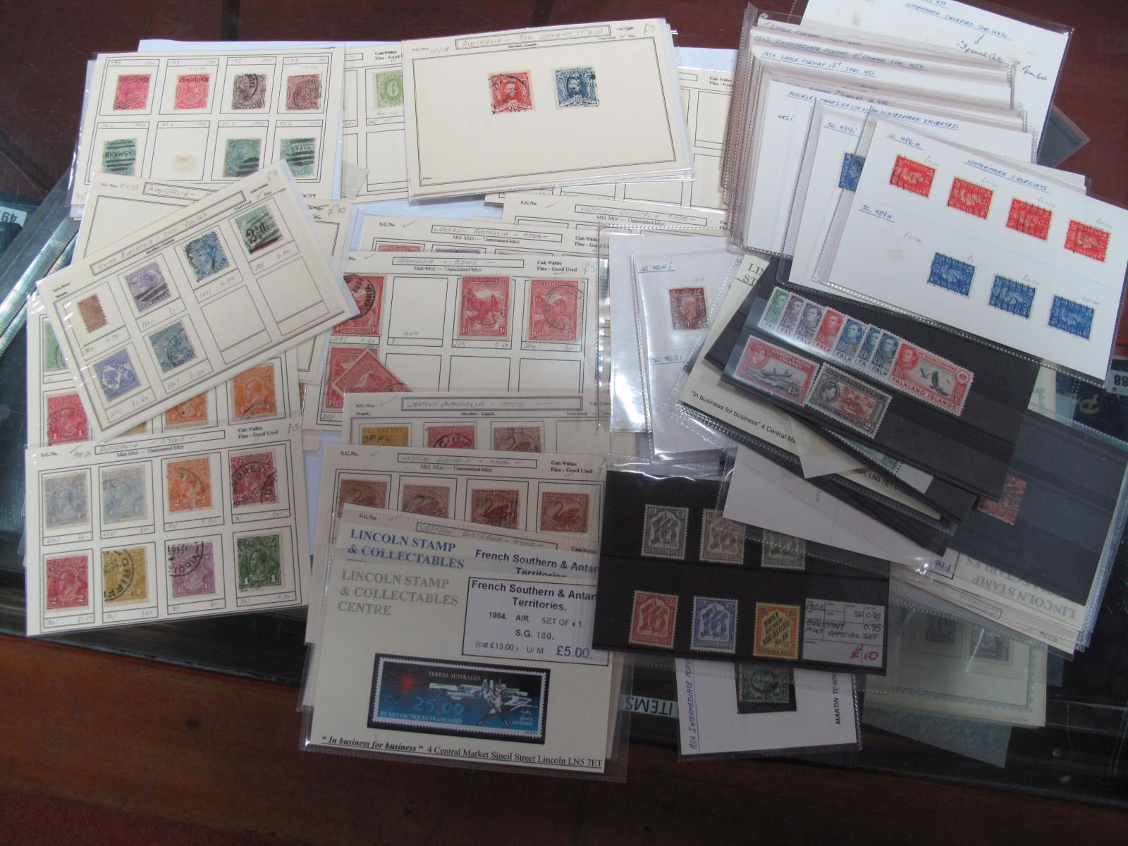 G.B and Commonwealth Selection of Stamps, mint and used stock cards, noted 1948 Silver Wedding