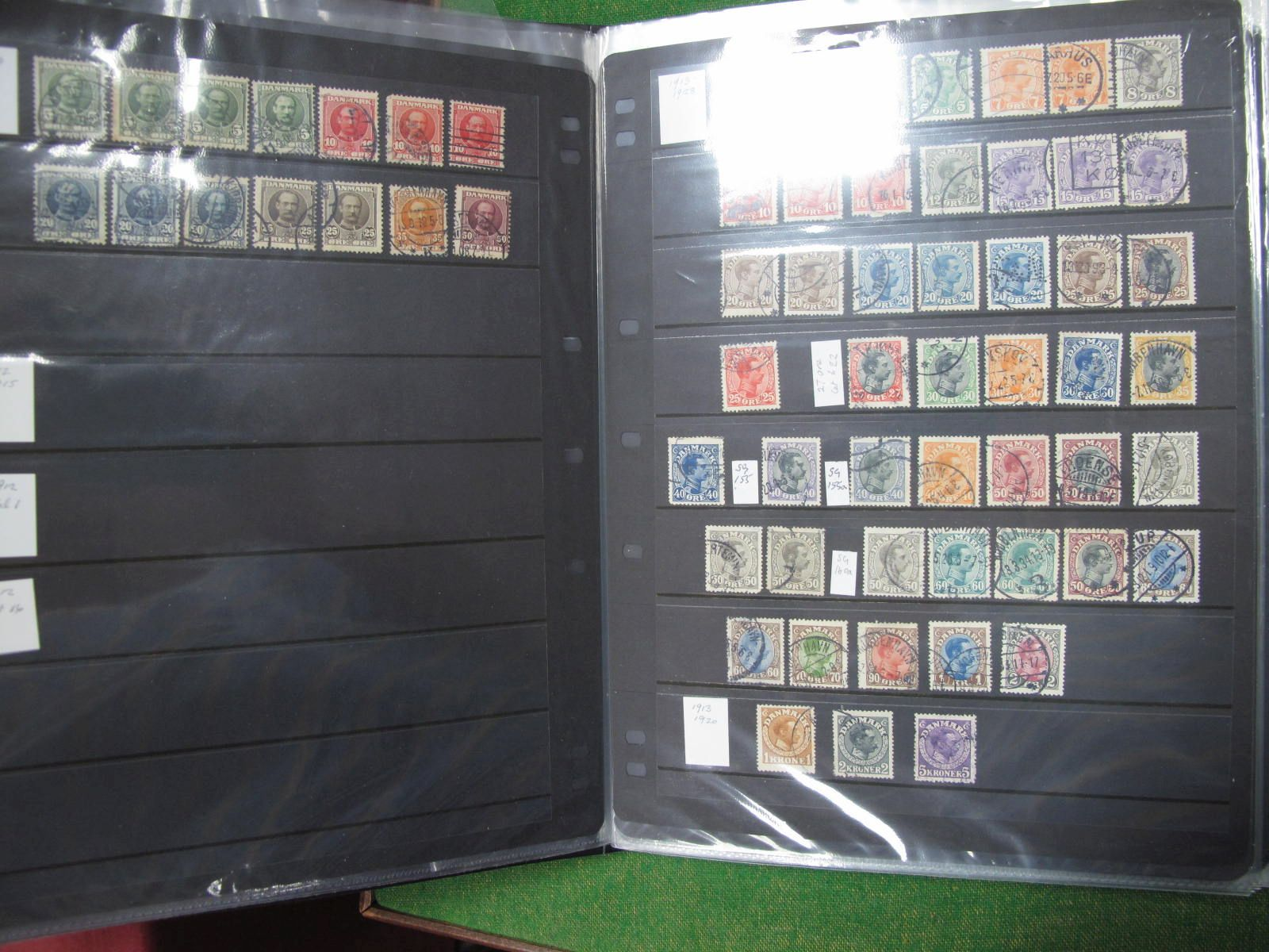 Denmark Collection of Mainly Used Stamps, from 1854 to 2001, mixed condition of earlier stamps,