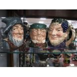 Royal Doulton Character Jugs, 'Bacchus', 'Rip Van Winkle', 'Mr Pickwick'. (3)