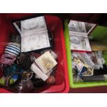 A Large Quantity of Costume Jewellery:- Two Boxes.