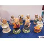 Beswick, Albert and Doulton, Beatrix Potter figures. (8)