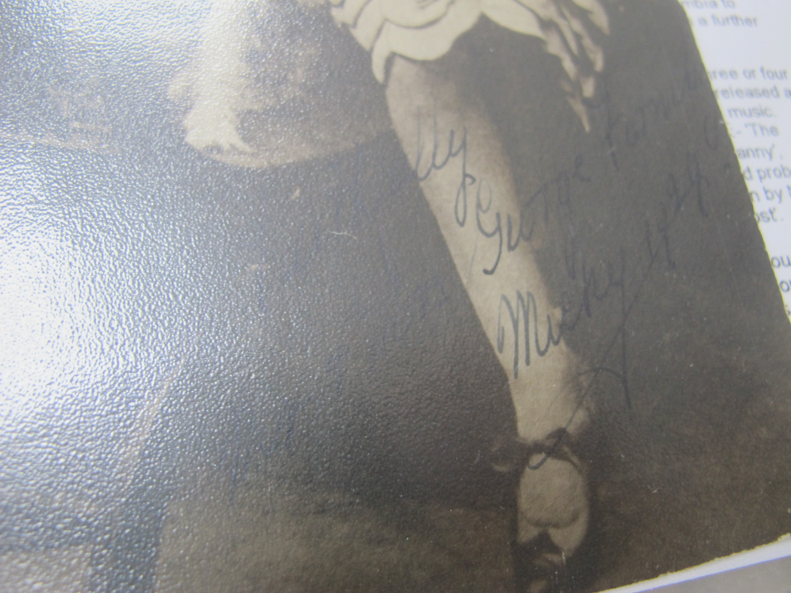 Autographed Photos - George Formby, George Carpentier, Sandy Powell. Postcards including - Image 3 of 4