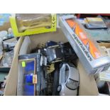 A Box Quantity of Diecast Vehicles, to include Maisto Chevrolet SSR, Sportscar collection Jaguar