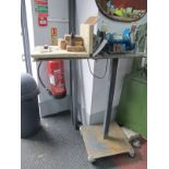 """A Clarke 6"""" Metalworkers Bench Grinder, Model No CBGGRP with instructions on custom fabricated"""