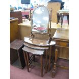 A Nest of Mahogany Coffee Tables, dressing mirror. (2)