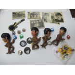 The Beatles, 1960's badges, rings, bubble gum cards.