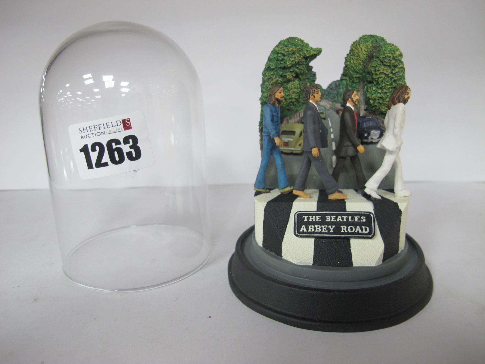 The Beatles Franklin Mint 'Abbey Road' Model, under glass dome 11cm high overall.