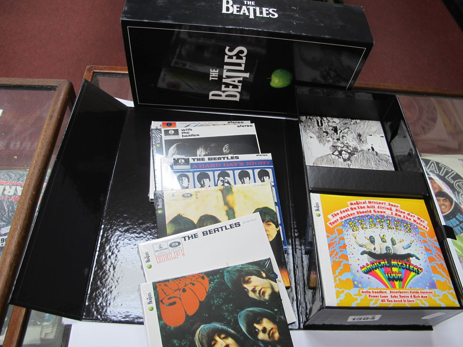 The Beatles CD Collection, featuring all thirteen studio albums, in original box and cover.