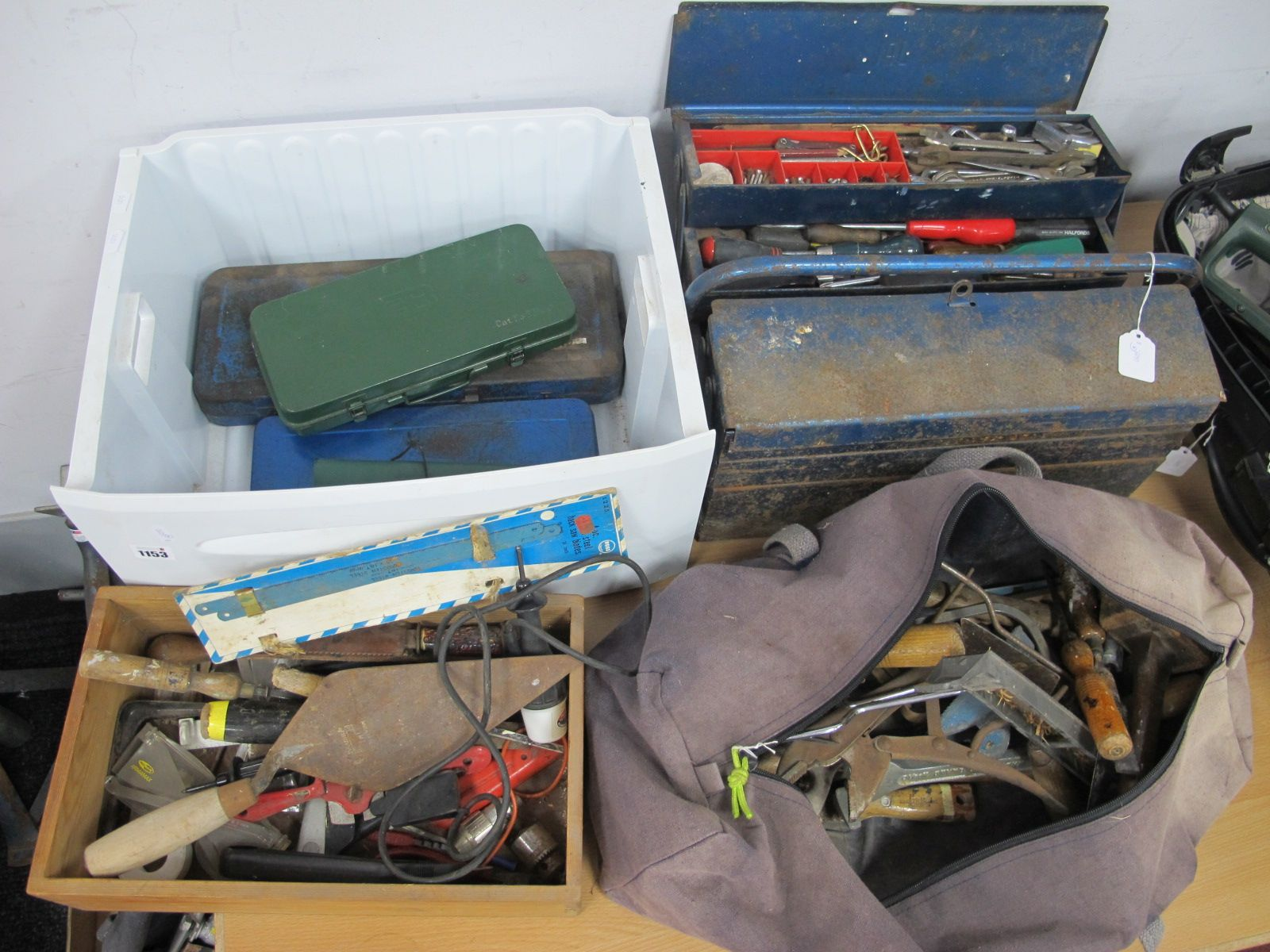 Elora, Domico & Beale Socket Sets, spanners, mallet, other tools, metal carry case.