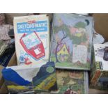 Vintage Toys- Two boxed Table Tennis Sets (one by Marks and Spencer), a boxed Merit Sketch-o-