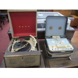 A Bush Reel to Reel and Portable Record Player, having Gerrard turntable. (All untested, sold for