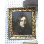 Portrait Study of a Lady, oil on board, 21.5 x 18cm.