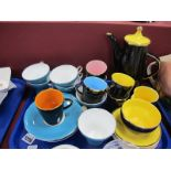 """Aynsley China Tea Service, together with a Palissy 'Madeline"""" coffee service:- One Tray."""
