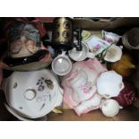 A Quantity of Ceramics, to include Toby jugs, Aynsley, James Kent, Old Foley, Royal Albert, etc:-