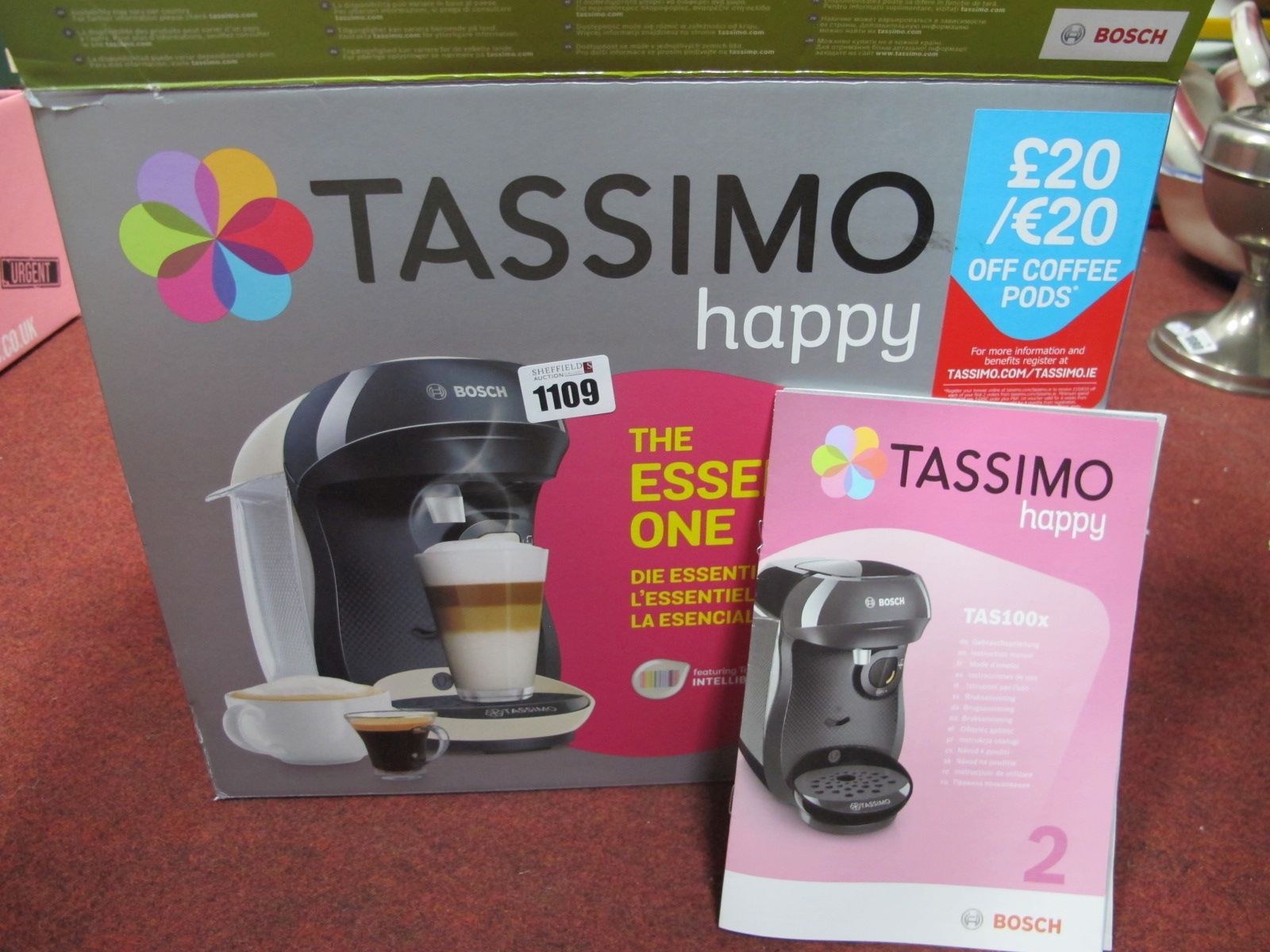 Bosch Tassimo Intellibrew, (boxed), sold for parts only.