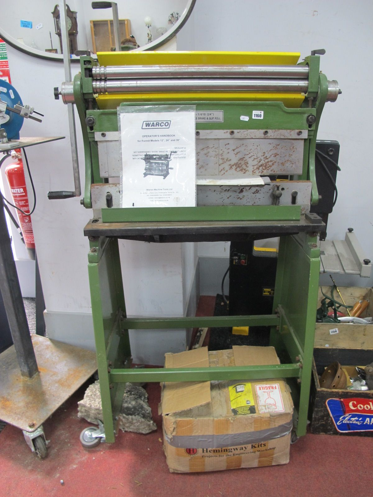 A Warco 3-in-1 Shear Press Brake and Slip Roll (with handbook)