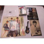 "Beatles Badge ""John Lennon"" in the Form of a Guitar, photo of Paul McCartney, Beatles 45, The"