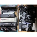 X Box 360, Microsoft X Box 360, Sony handsets, Sonly Handsets:- Two Boxes, (untested sold for