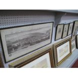 Fred A Farrell, 'Westminster', etching, signed, 30 x 11cm, three others. Prospect of Sheffield
