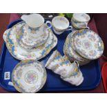 "Shelley ""Sheraton"" China Tea Service, of twenty one pieces:- One Tray."