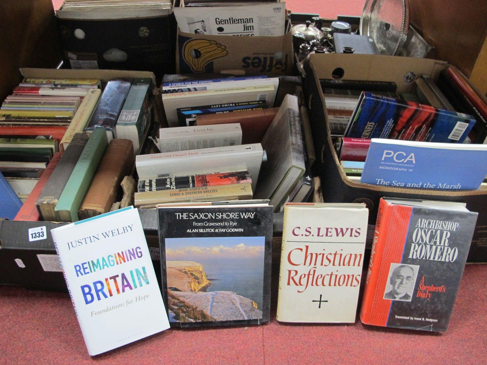 Books - William Morris, Wong, Maurice Bearing, Alan Paton, etc:- Three Boxes.