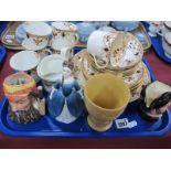 Doulton Small Character Jugs, 'Mine Host', 'W.G.Grace', 'Debbie' figurine, Edwardian tea ware,