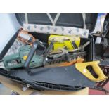 Black & Decker Hedge Trimmer (untested sold for parts only), Record G clamps, Stanley continental
