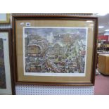 George Cunningham, 'The Markets', limited edition print 326/500, signed lower right, 35.5 x 43cm.