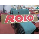 A Mid XX Century Hand Painted Fairground Style Sign for Rolo (Chocolates), 26.5 x 122cm.