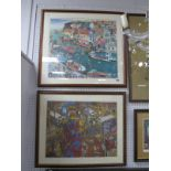 Joe Scarborough, Whitby, print, unsigned; together with a further print by J. Scarborough 'Temple