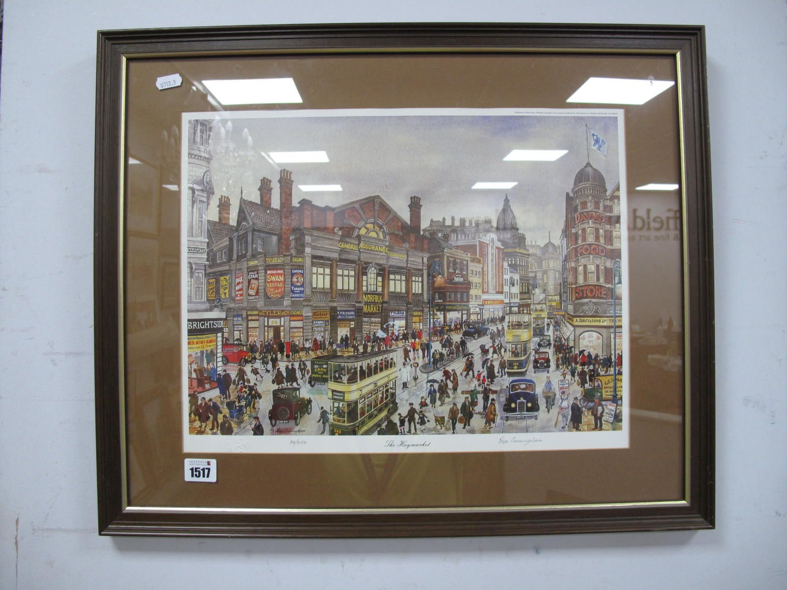 George Cunningham, 'The Haymarket', limited edition print 90/250, signed lower right, 33 x 43cm.
