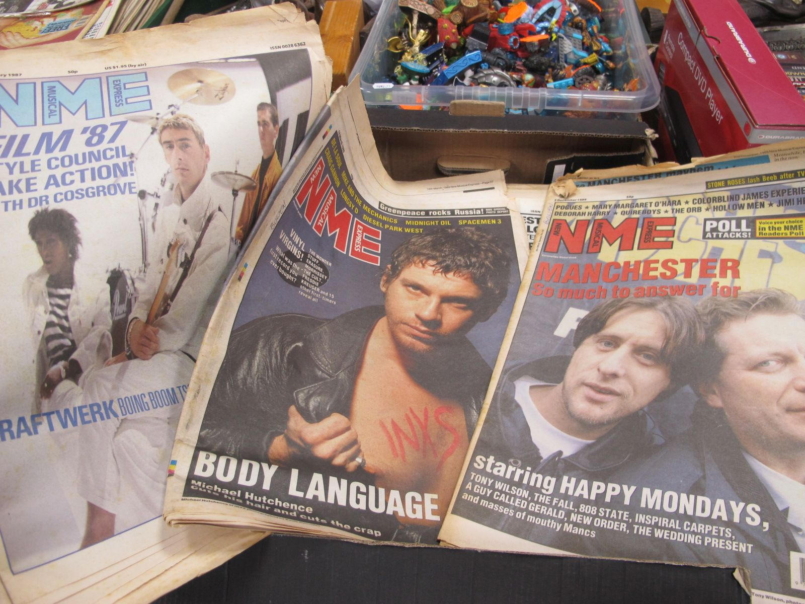 NME, Sounds, Melody Maker Music Papers, from the 1980's and 90's, approximately forty four.