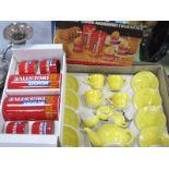 Children's Pottery Tea Set, McVities, T.G Green egg cups, biscuit barrel. (2)