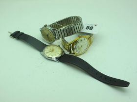 Everite Helmsman Vintage Gent's Wristwatch, on a strap; together with a Rotary gent's wristwatch, on