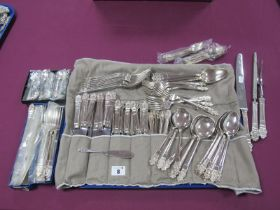 Gee & Holmes Ltd 'Elizabethan' Pattern Eight Setting Canteen of Plated Cutlery, including boxed fish