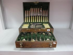 A Joseph Rodgers Canteen of Plated Cutlery, eight setting (part missing), contained in original