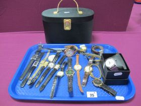 A Collection of Assorted Wristwatches, including Limit, Sekonda, Le Chat, etc; together with a small