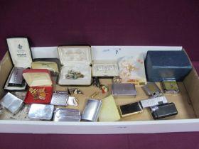 Assorted Lighters, including Ronson, Rolstar, Colibri, etc, assorted cufflinks, including Siam