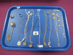 """An Ankh Style Panel Bracelet, """"925"""" and other Egyptian style pendants on chains, similar rings and"""