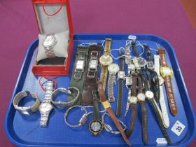 A Variety of Modern Ladies Wristwatches, including Guess, Police, Casio, Oasis, Limit, Seiko,