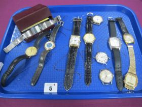 """Rotary; A Modern Gent's Wristwatch, within plain case stamped """"375""""; further gent's wristwatches,"""